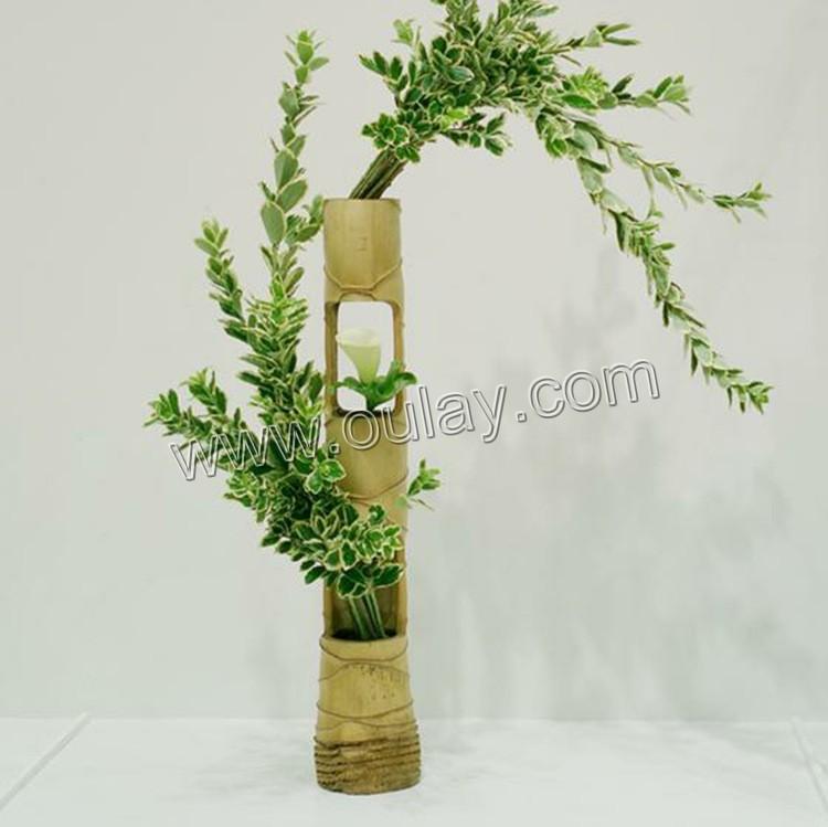 Handmade Flower Basket Bamboo Flower Basket Pot Bamboo Crafts Oulay